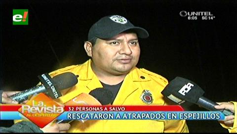 Santa Cruz. SAR-FAB rescata a 32 personas atrapadas en Espejillos