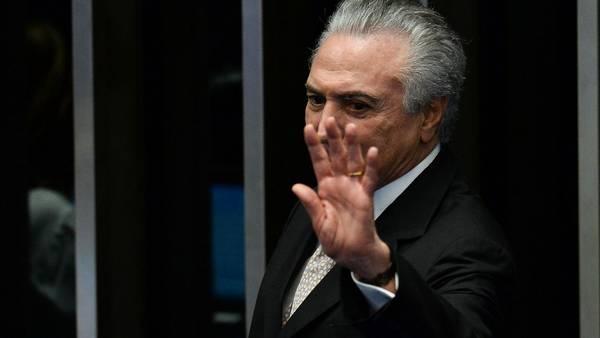 Michel Temer asume como presidente de Brasil, tras la destitución de Dilma Rousseff. (AFP)