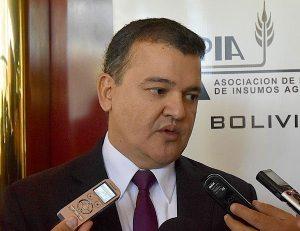 RONALD NOSTAS, PRESIDENTE DE LA CONFEDERACIÓN DE EMPRESARIOS PRIVADOS DE BOLIVIA. AYER.