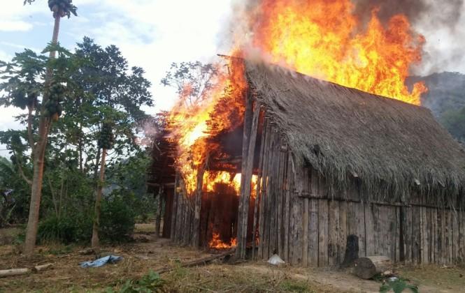 Efectivos antidroga incineraron siete toneladas y media de clorhidrato de cocaína