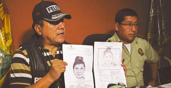 Las autoridades policiales de Montero informan de las pesquisas que se hacen tras la raptora