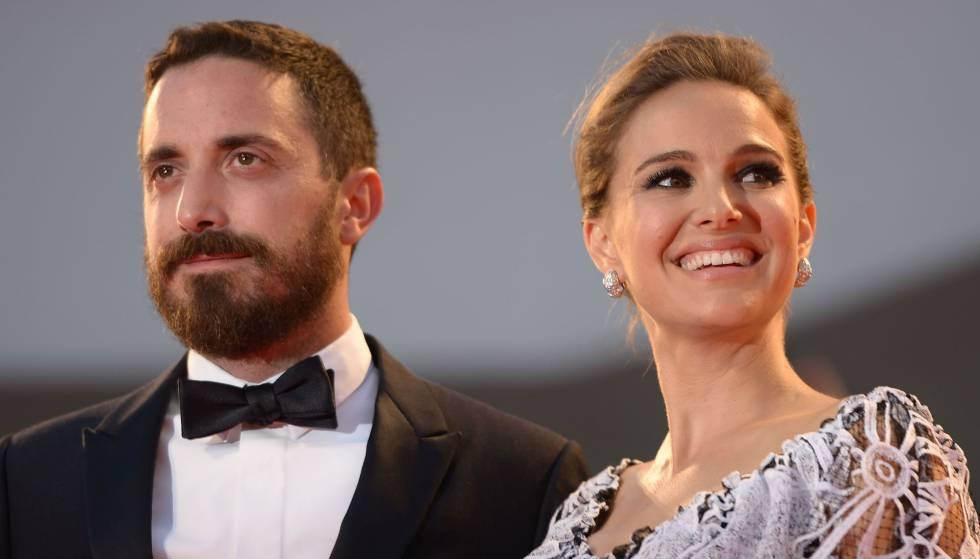 Pablo Larraín y Natalie Portman, en la presentación de