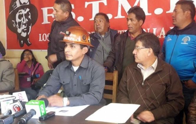 Mineros asalariados piden renuncia inmediata del presidente de Comibol