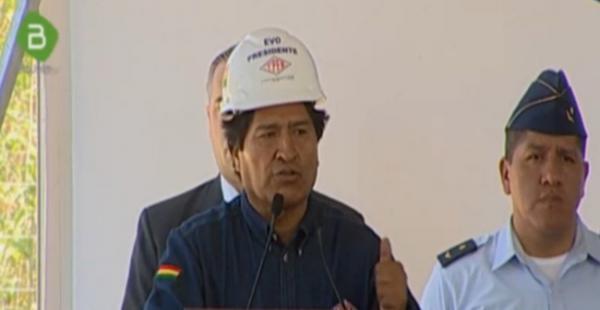 El presidente Evo Morales inauguró este viernes el megacampo Incahuasi