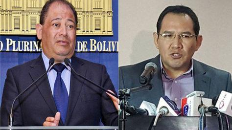 El ministro de Gobierno, Carlos Romero, y el fiscal general del Estado, Ramiro Guerrero