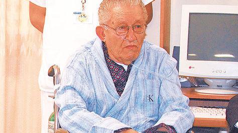 El exdictador Luis García Meza en el hospital militar de Cossmil. Foto: Ángel Illanes-archivo