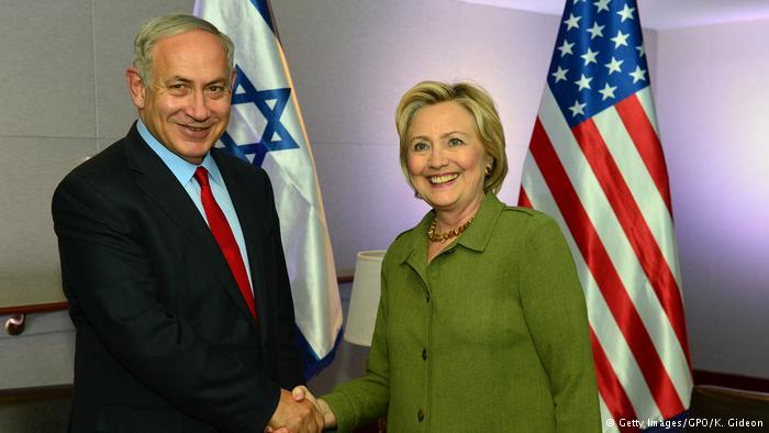 USA Treffen Benjamin Netanjahu mit Hillary Clinton in New York