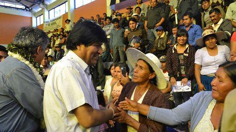 El presidente Evo Morales durante la inauguración del XXIV Congreso Ordinario del Tropico de Cochabamba. Foto: ABI