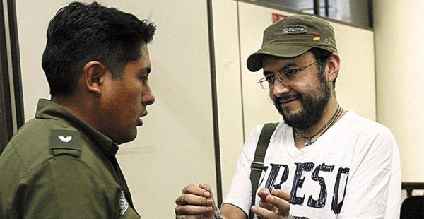 Boris Villegas en una de las tantas audiencias a las que asistió y se declaró preso político