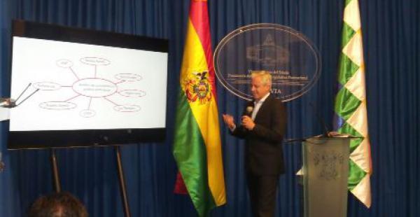 El vicepresidente Álvaro garcía Linera no quiso adelantar criterios sobre la viabilidad o no del pago del segundo aguinaldo argumentando que se esperarán los datos oficiales del INE