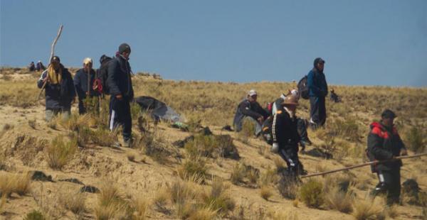 Mineros de Fencomin tuvieron un ampliado en el punto de bloqueo establecido en Mantecani