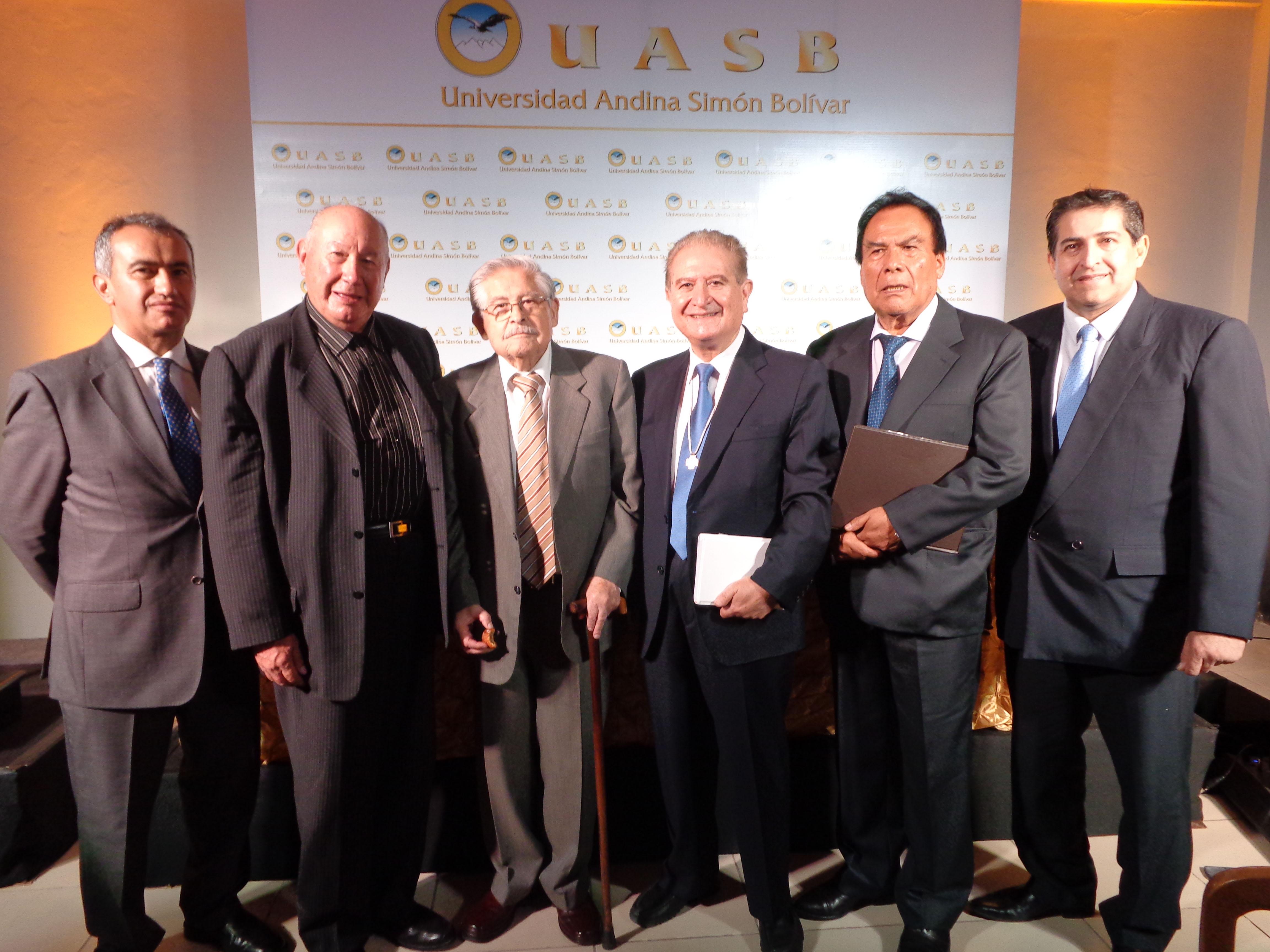 Dr. Cesar Montaño, Dr. Walter Kaune, Dr. Gastón Ledezma, Dr. José Luis Gutiérrez, Dr. Jaime Villalta, Dr. Duberty Soleto.