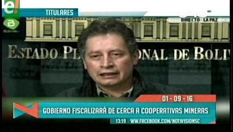 Titulares de TV: Gobierno fiscalizará a las cooperativas mineras