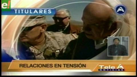 Titulares de TV: Miguel Insulza acusó a Evo Morales de dificultar las relaciones civilizadas entre Bolivia y Chile