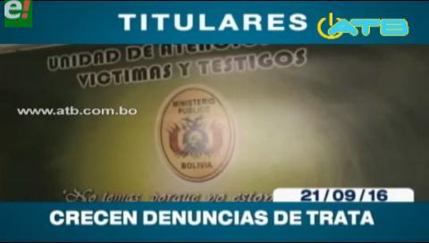 Titulares de TV: Crecen las denuncias de Trata y Tráfico de Personas