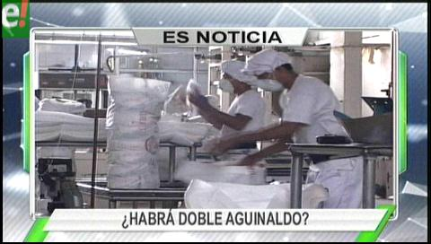 Titulares de TV: Empresarios de Chuquisaca dicen que no pueden pagar doble aguinaldo