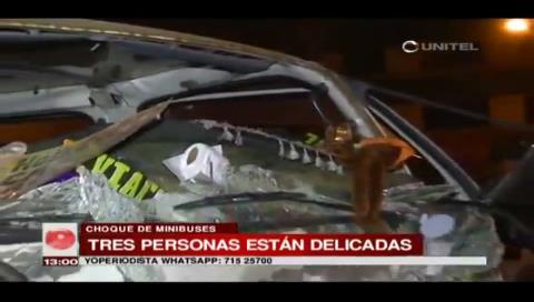 Accidente de tránsito deja a 10 personas heridas en la carretera a Viacha