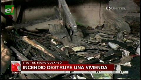 Incendio consume un inmueble dejando sin nada al propietario