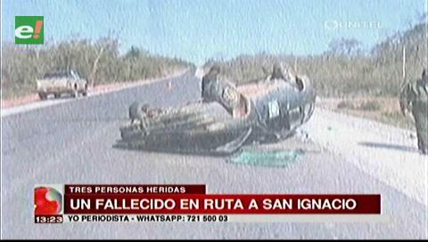 Accidente en la carretera a San Ignacio deja un muerto y tres heridos