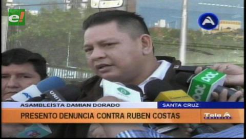 Asambleísta Dorado presenta querella contra Rubén Costas