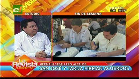 Municipios de San José y Tarija firman acuerdo para trabajar en el área cultural