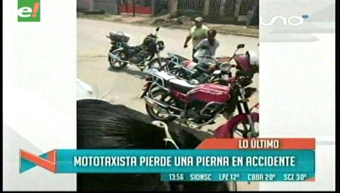 Mototaxista pierde la pierna en accidente de tránsito