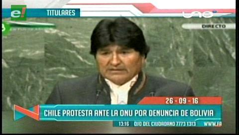 Titulares de TV: Chile protesta ante la ONU por denuncia de Evo sobre el atropello a bolivianos en ese país