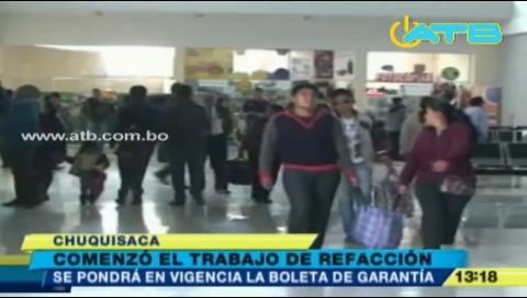 Inician reparaciones en aeropuerto de Alcantarí en Chuquisaca