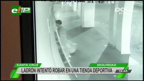 Infraganti: Un ladrón es sorprendido escapando de una tienda