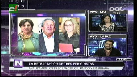 La retractación de 3 periodistas origina debate