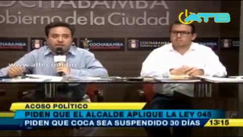 Cochabamba: Piden a Coca que se disculpe públicamente por adjetivos contra concejal Molina
