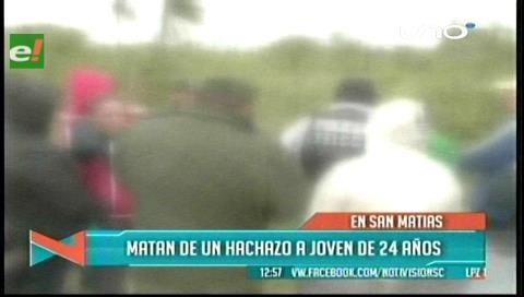 Matan de un hachazo a joven en San Matías
