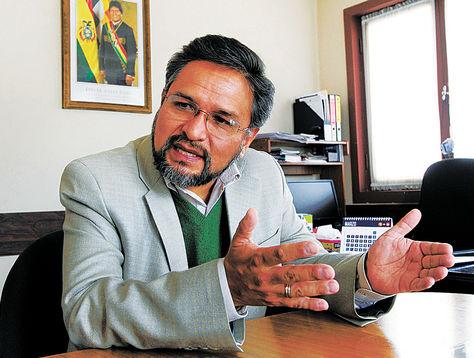 El viceministro de Coordinación con los Movimientos Sociales, Alfredo Rada. Foto: Ángel Illanes