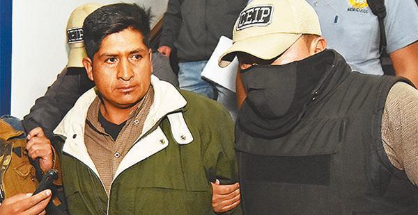 El cooperativista minero fue aprehendido en Oruro, trasladado a La Paz y recibió medidas sustitutivas.