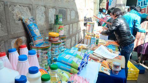 Productos del subsidio prenatal que se distribuye en el país. Foto: La Razón - archivo