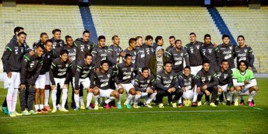 La selección nacional en pleno, en el cierre de su trabajo en el estadio Siles.