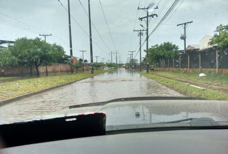 El Parque Industrial se inundó