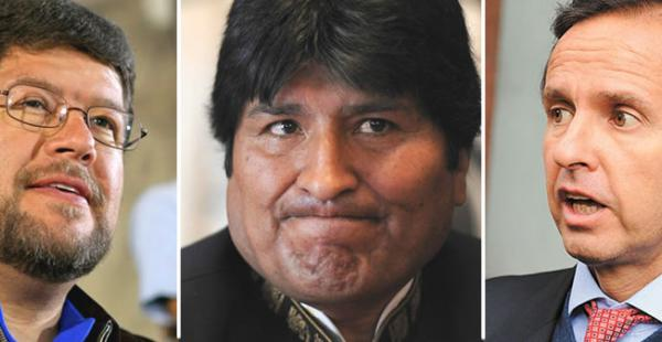 Samuel Doria Medina, Evo Morales y Jorge Tuto Quiroga