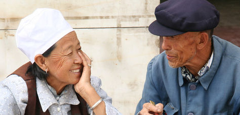 Una pareja de ancianos chinos. Foto: china-files.com