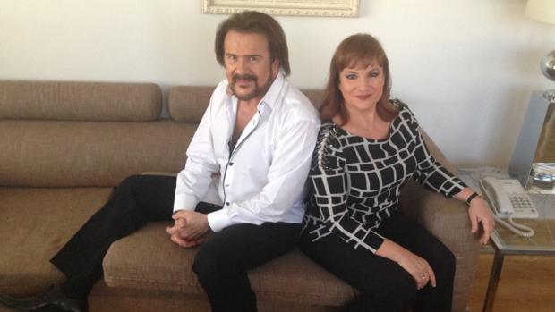 Joaquín y Lucía Galán posan para ABC durante la entrevista