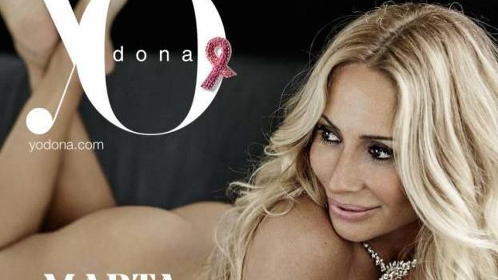 La cantante Marta Sánchez desnuda