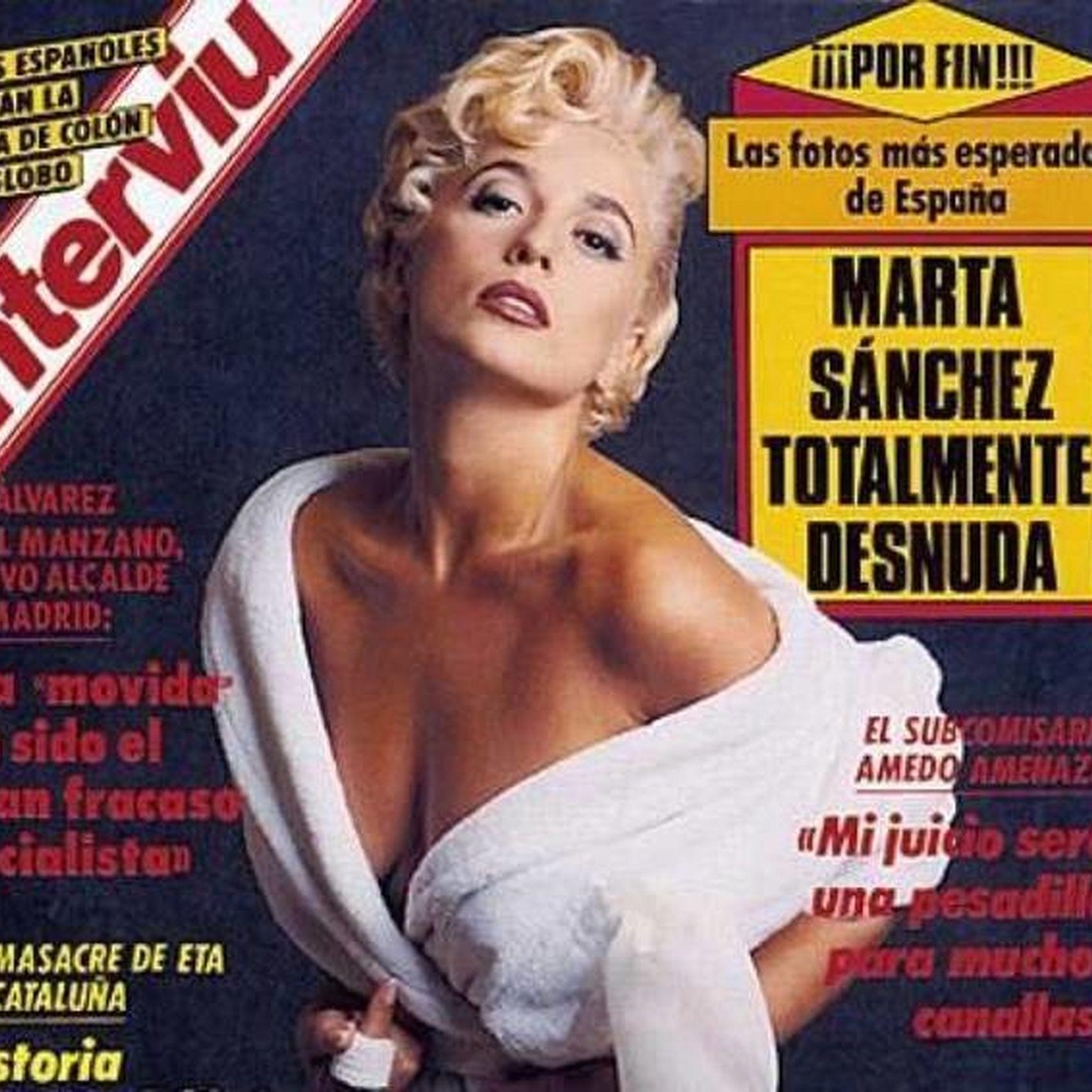 La cantante cuando posó para la revista Interviú