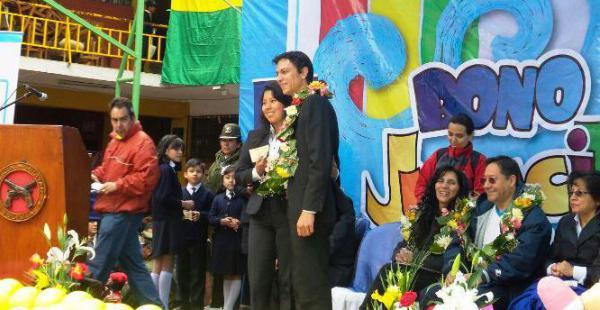En el acto de La Paz estuvieron los ministros de Cultura y de Economía
