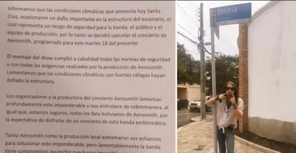 Aerosmith cancela su concierto en Bolivia