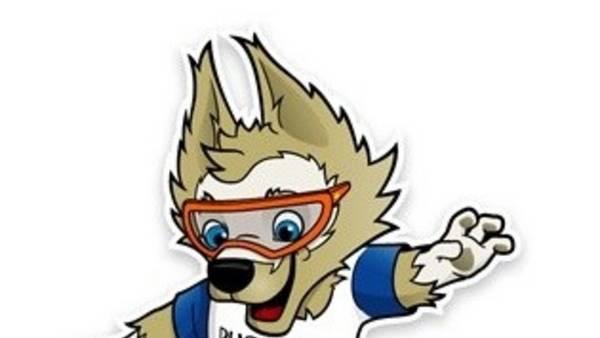 Zabivaka, el lobo elegido para ser la mascota del Mundial de Rusia.