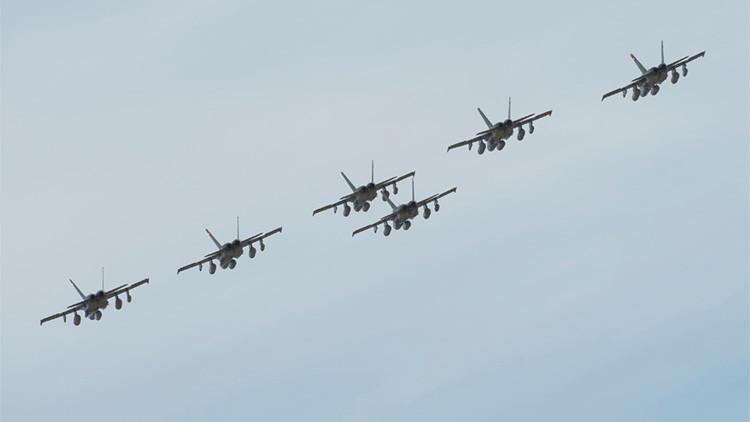 Cazas CF-18 Hornet en la provincia de Alberta, Canadá, el 22 de octubre de 2014.