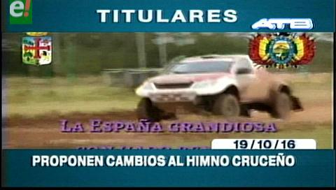 "Titulares de TV: Quintana sobre el himno cruceño. ""La España grandiosa es una aberración histórica"""