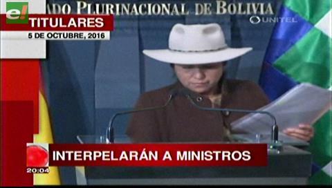 Titulares de Tv: Interpelarán a los ministros Marianela Paco y Reymi Ferreira