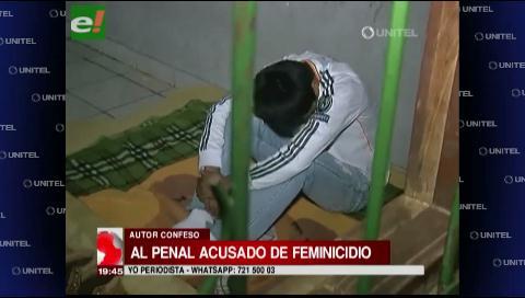 Envían a la cárcel de Palmasola al autor confeso de asfixiar a su pareja