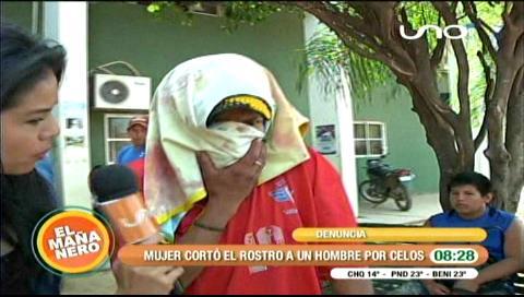 Mujer celosa le desfigura la cara a su marido en un local